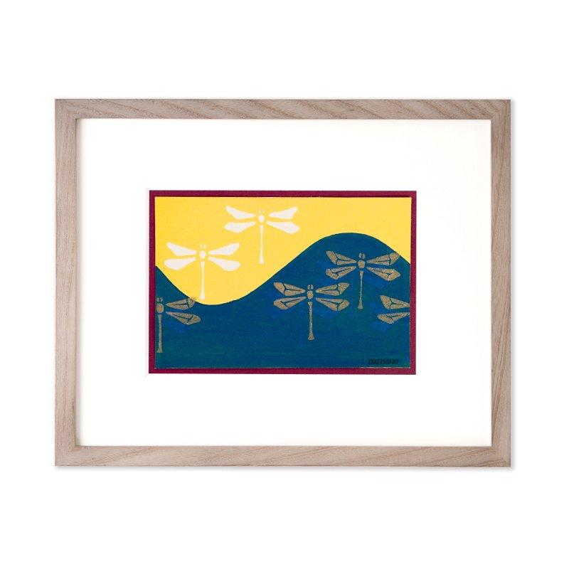 木版画 原田裕子「季節の木版画 東山」