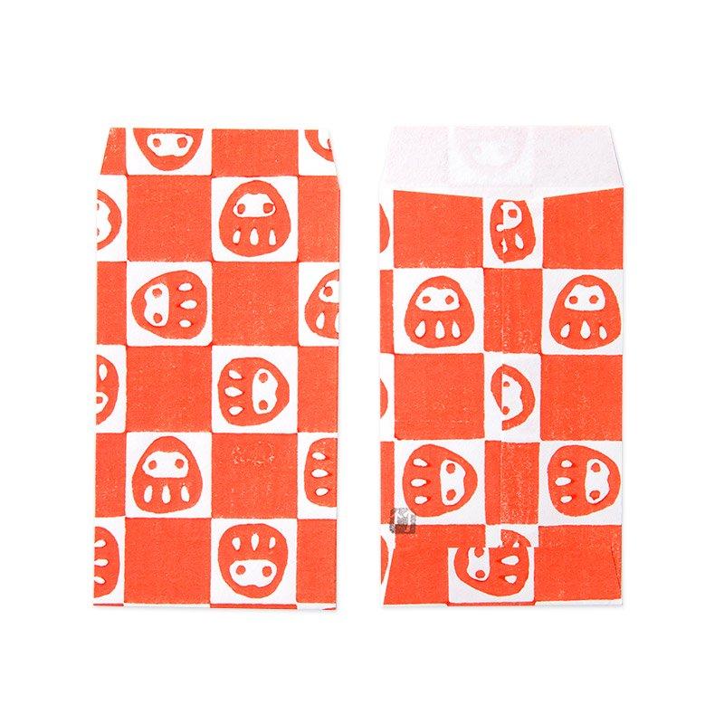 ポチ袋三つ折サイズ だるま市松