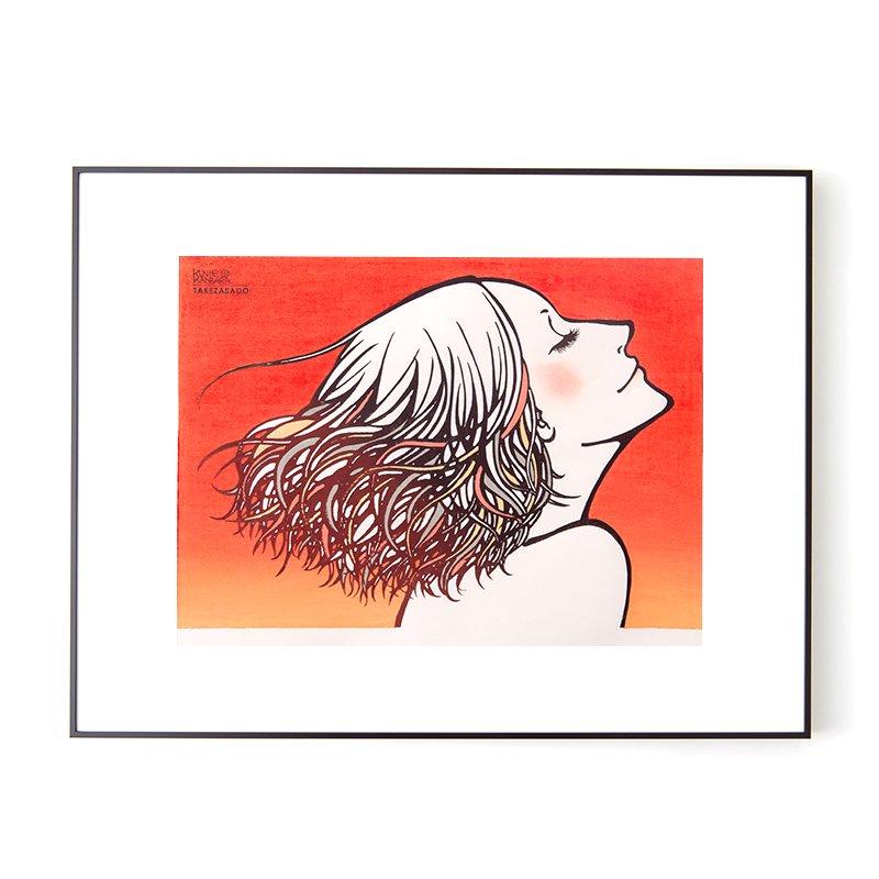 木版画 カンバラクニエ IMAUKIYOE「はじまりのあか」