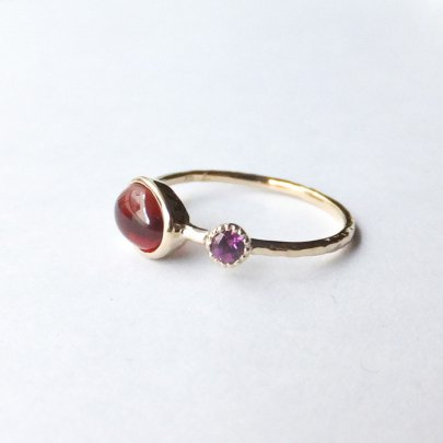 amulet ring ガーネット