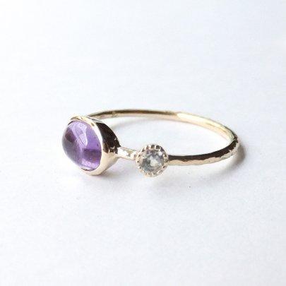 Amethyst amulet ring