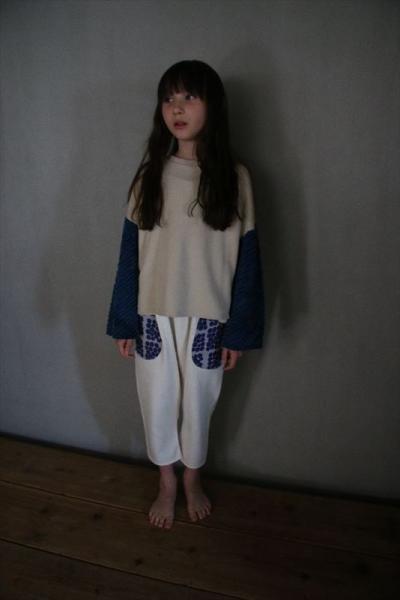 ゴブラン花柄ポケットルーズパンツ/ivory