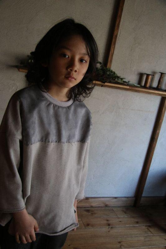 【30%OFF】切りっぱなしスエード切り替えトレーナー/M・L