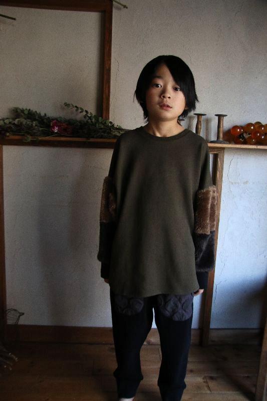 【30%OFF】ボリュームボア袖トレーナー/M・L