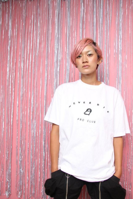 【予約販売】NEVERDIE PRO CLUB/半袖Tシャツ(150〜170)