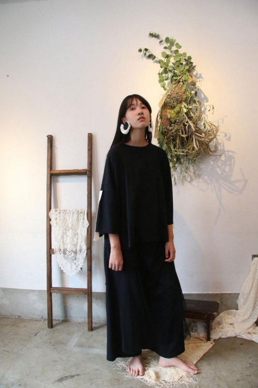 【予約販売】バックライン変形ソフトTシャツ/M・L