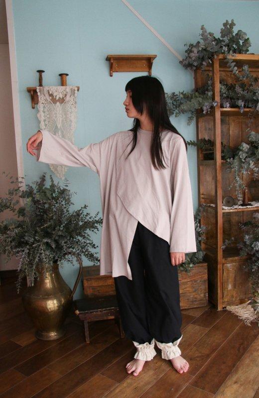 ソフト変形アシンメトリーTシャツ/0(145~155)・1(Ladies))