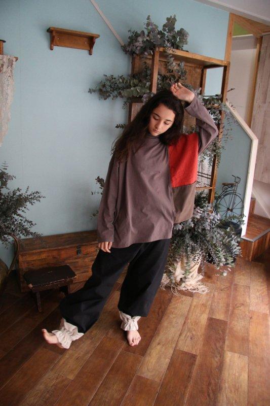 アシンメトリーハイネックパッチTシャツ/0(145~155)・1(Ladies))