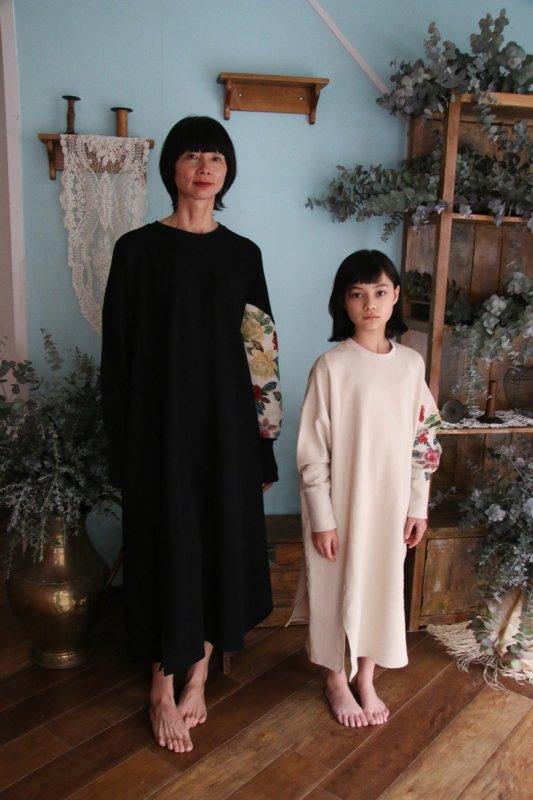 アシンメトリーゴブラン袖裏毛ワンピース/0(145~155)・1(Ladies))