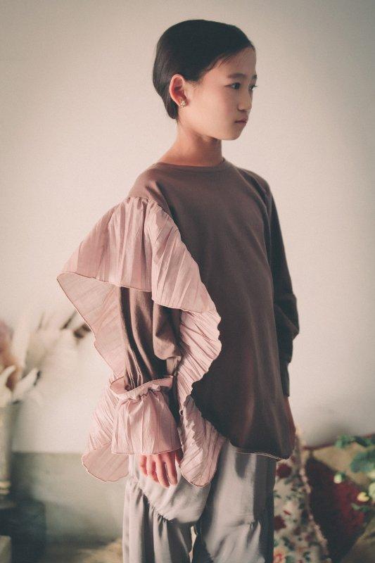 ランダムプリーツソフトTシャツ/SS・S・M)
