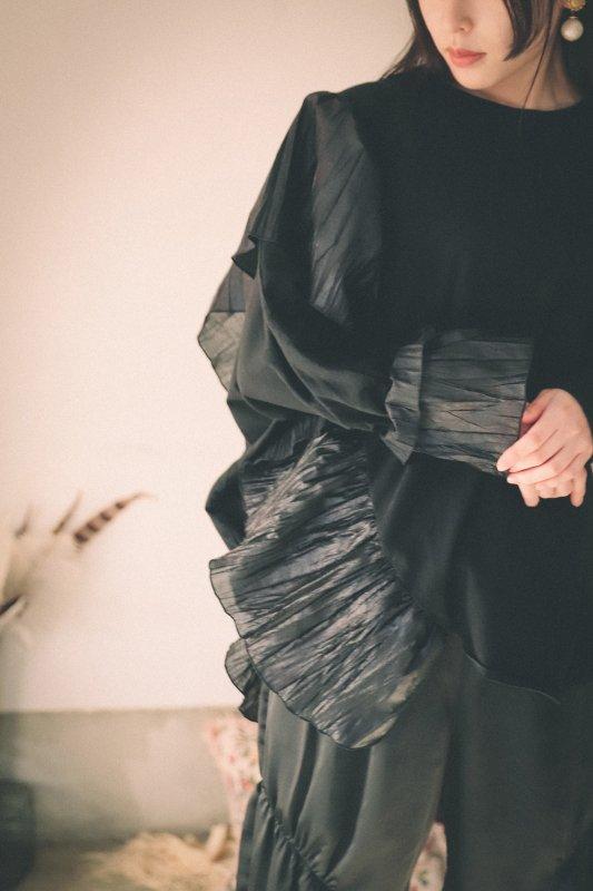 ランダムプリーツソフトTシャツ/0(145~155)・1(Ladies))