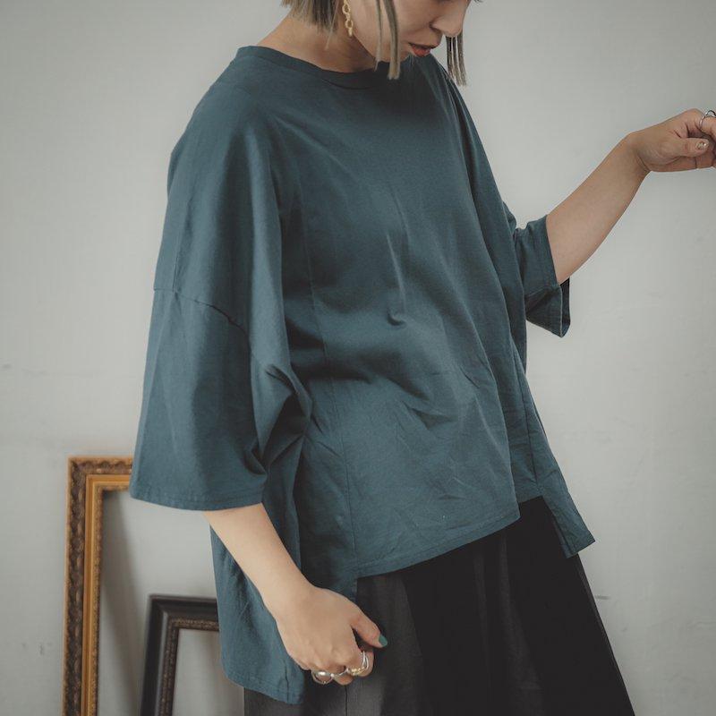 【予約販売】ソフト変形四角Tシャツ/0(145~155)・1(Free)