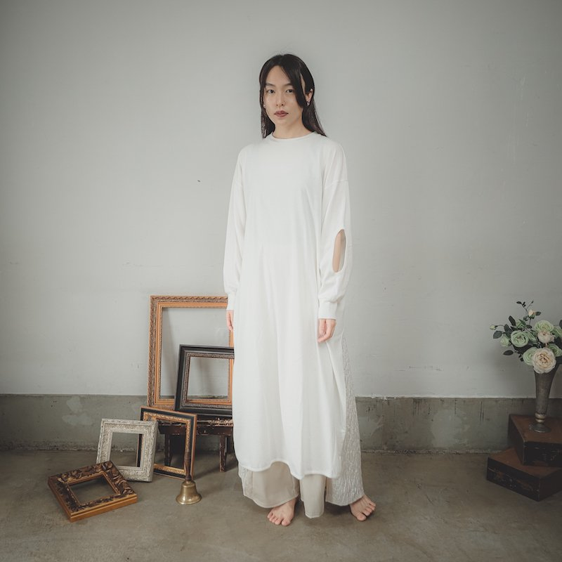 【予約販売】ソフト切り替えロングTシャツ/0(145~155)・1(Free)
