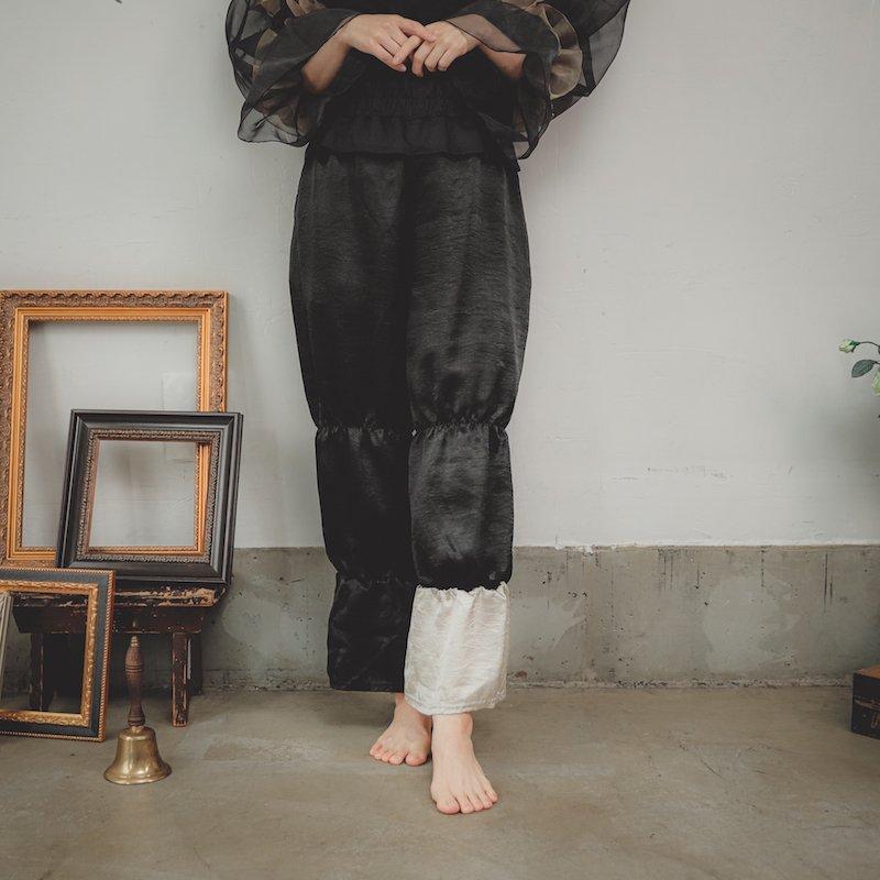 【予約販売】【予約終了】サテンティアードパンツ/0(145~155)・1(Free)