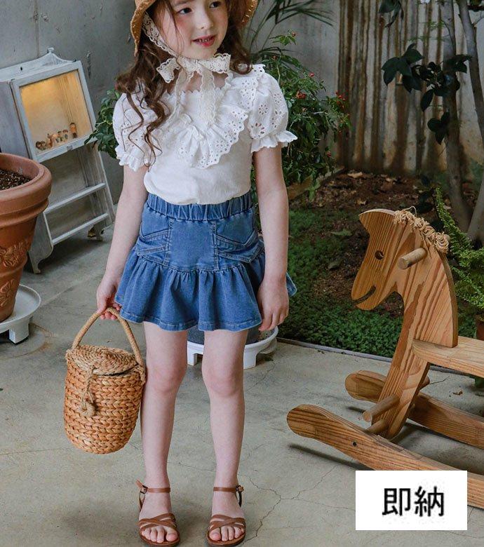 スジャンデニムスカート(2色)
