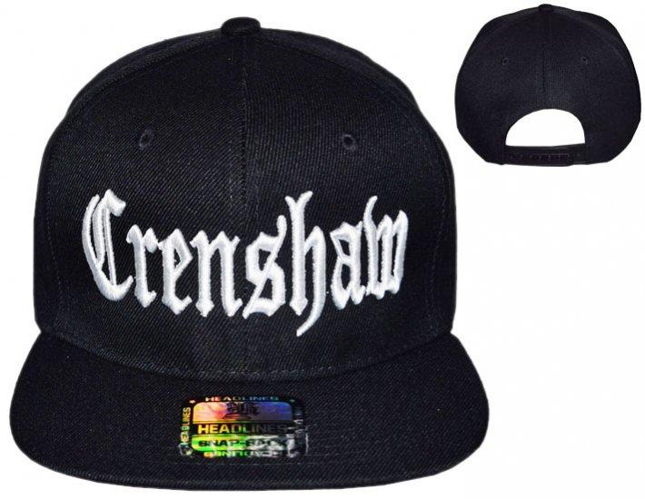 CRENSHAW SNAPBACK CAP BLACKxWHITE  -  LA PUERTA ONLINE ウエストコースト 衣類 雑貨 CD -  MEX-MUZIK 08746477dc7