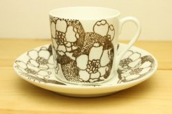 GUSTAVSBERG(グスタフスベリ)EMMA(エマ)コーヒーカップ&ソーサー (ブラウン) 1