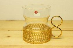iittala(イッタラ)Tsaikka(ツァイッカ) ゴールドホルダー付グラス