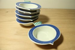 RORSTRAND(ロールストランド) Picknick(ピクニック)カブの小皿(BL) 6個セット