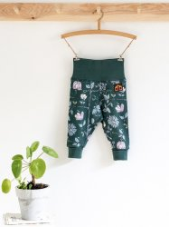 100%オーガニックコットン:Modeerskahuset Leggings- Tree Walk