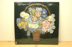 (買付) JIE Gantofta お花の壁飾り(花かご) L