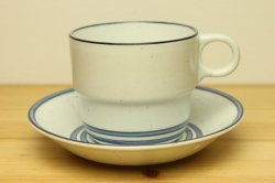 GUSTAVSBERG(グスタフスベリ)Dart(ダート) コーヒーカップ&ソーサー