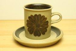 ARABIA(アラビア)Tunturi (トゥントゥリ)コーヒーカップ&ソーサー