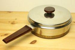 NILS JOHAN(ニルスヨハン)ステンレス製取っ手がチークの片手鍋21