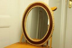 籐とチークの鏡