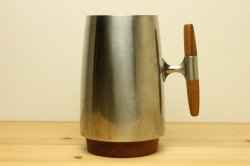 スウェーデン製 チークの持ち手 ステンレスのマグカップ