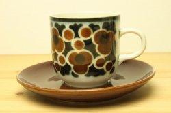 ARABIA(アラビア) Kara カップ&ソーサー(茶)1
