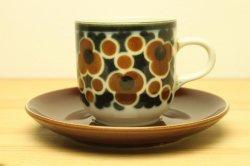 ARABIA(アラビア) Kara カップ&ソーサー(茶)2