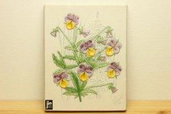 JIE Gantoftaのお花の壁飾り(白・パンジー)