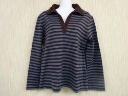 marimekko(マリメッコ) ボーダー襟付き長袖シャツ L (20)