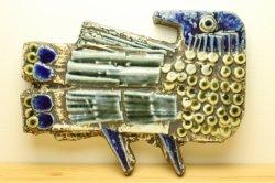 GUSTAVSBERG(グスタフスベリ)LISA LARSON(リサ・ラーソン)Fagel 鳥の陶板