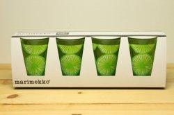 Marimekko(マリメッコ)APPELSIINI(オレンジ)柄 タンブラー4個セット