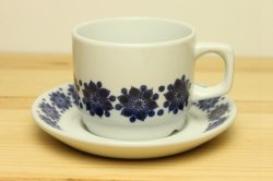 Figgjo(フィッギオ)青い花のコーヒーカップ&ソーサー