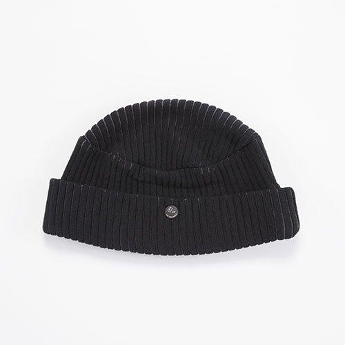 CUFF KNIT / JAGGY / BLACK(カフニット / ジャギー / ブラック)「帽子」