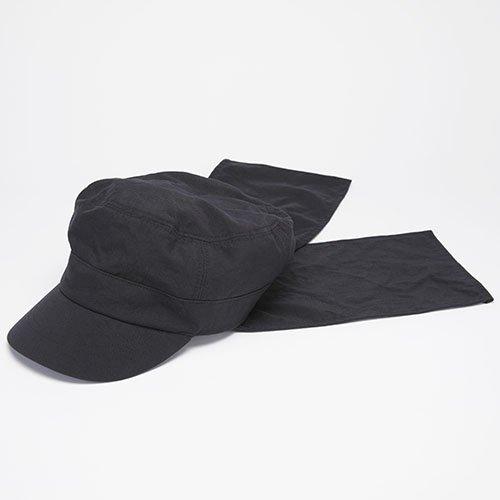 WORK CAP / FLAP / BLACK(ワークキャップ / フラップ / ブラック)「帽子」