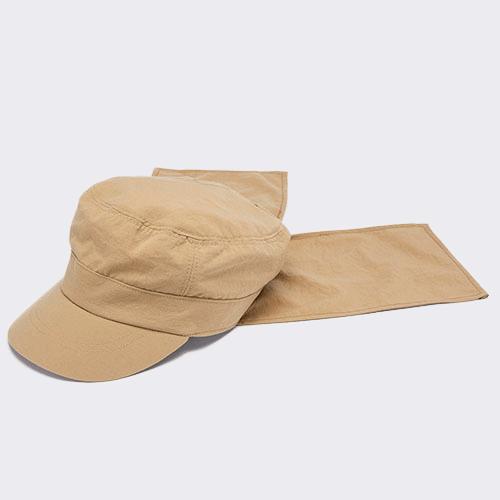 WORK CAP / FLAP / BEIGE(ワークキャップ / フラップ / ベージュ)「帽子」