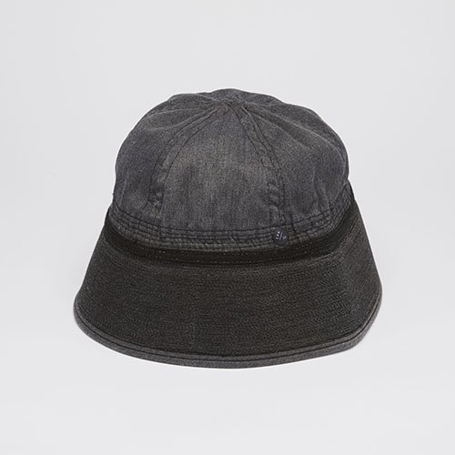 SAILOR HAT / VINTAGE DYED / BLACK(セーラーハット/ヴィンテージダイド/ブラック)「帽子」