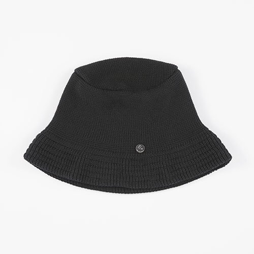 KNIT CAP / BUCKET / BLACK(ニットキャップ / バケット / ブラック)「帽子」