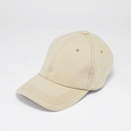 <font color=red>NEW</font> 6 PANEL CAP / JS MELTON / BEIGE(6パネルキャップ/ ジェイエス メルトン/ ベージュ)「帽子」