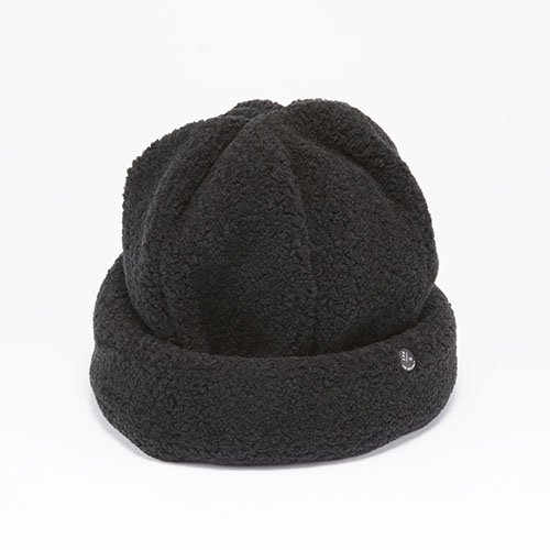 <font color=red>NEW</font> CUFF KNIT / SHEEP BOA / BLACK(カフニット / シープボア / ブラック)「帽子」