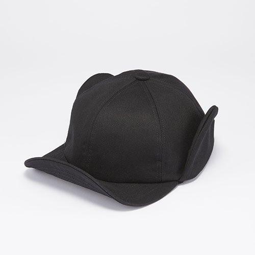 <font color=red>NEW</font> 6 PANEL CAP / EAR FLAP / BLACK(6パネルキャップ/ イアーフラップ/ ブラック)「帽子」