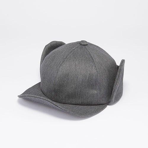 6 PANEL CAP / EAR FLAP / GRAY(6パネルキャップ/ イアーフラップ/ グレー)「帽子」