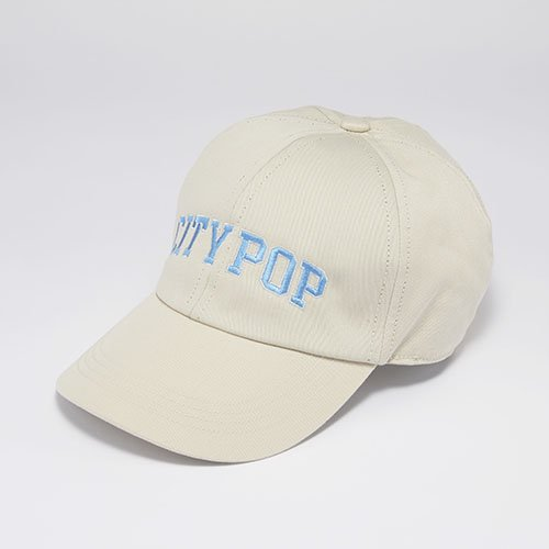 6 PANEL CAP / CITY POP / BEIGE(6パネルキャップ/ シティーポップ / ベージュ)「帽子」