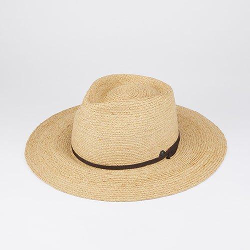 <font color=red>NEW</font> FRONT PINCH / RAFFIA LONG BRIM / BEIGE (フロントピンチ/ ラフィアロングブリム/ベージュ)「帽子」