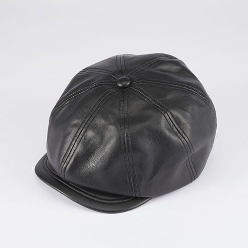 <font color=red>RE STOCK</font> 510SL SYNTHETIC LEATHER CASQUETTE/BLACK(510SLシンセティックレザー/ブラック)「帽子」