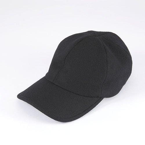 <font color=red>NEW</font>  6 PANNEL CAP / FLANNEL / BLACK(6パネルキャップ / フランネル / ブラック)「帽子」